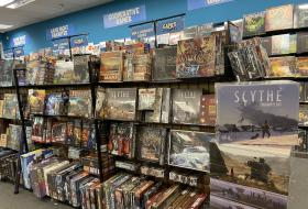 Showroom board game selection
